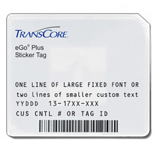 Transcore eGo Plus Windshield Sticker Tag Front