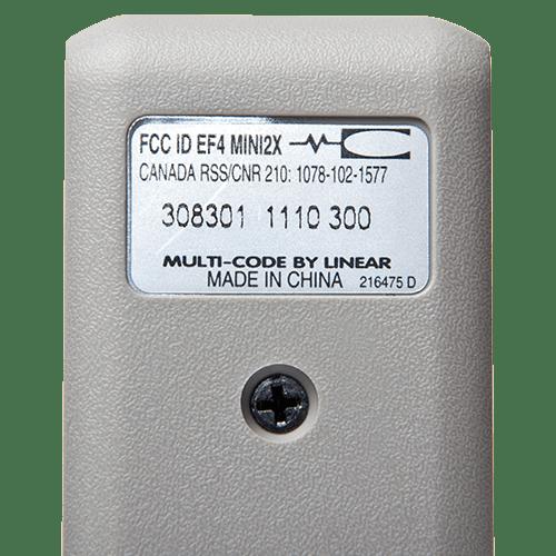 Multi-Code 2 Button Mini Back