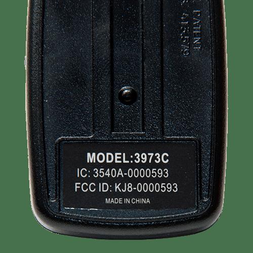 Wayne Dalton 3 Button 372.5 MHz Back