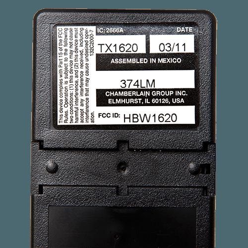 Liftmaster 4 Button Visor Back