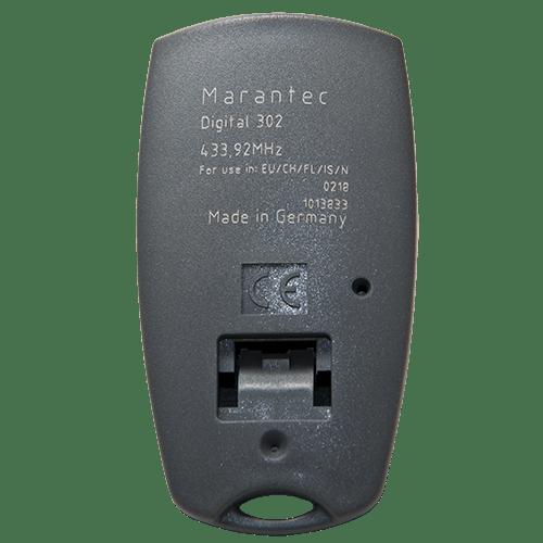 Marantec 2 Button Mini 433 MHz Back