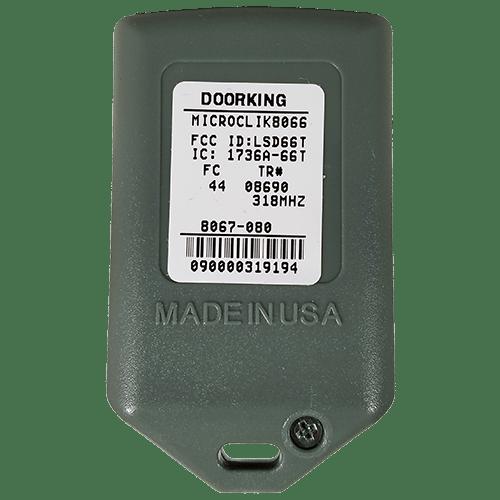 DoorKing MicroClick 2 Button Back