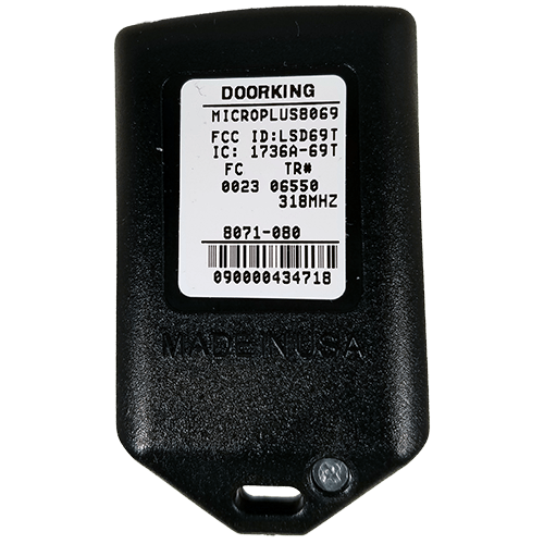 DoorKing MicroPlus 3 Button Back