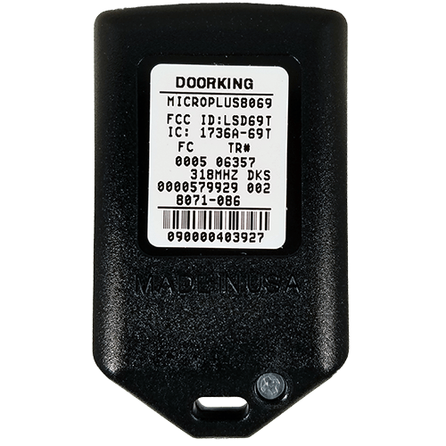 DoorKing MicroPlus DKS Prox Back