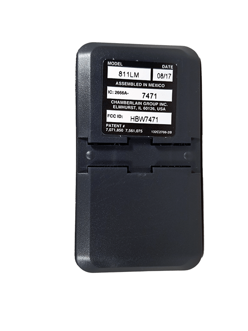 Liftmaster 1 Button 12 Switch Security+ 2.0 Back