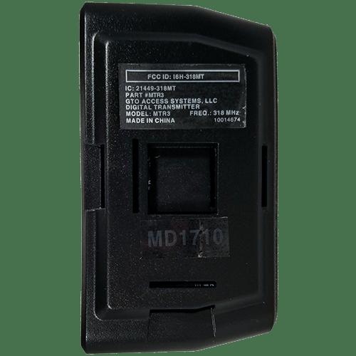 Linear MegaCode 3 Button Back