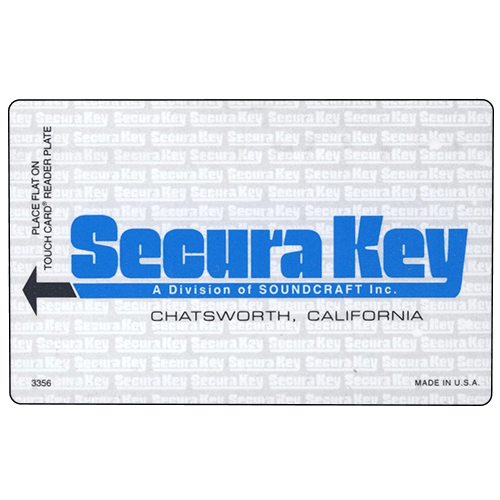 SecuraKey Touchplate Card Back
