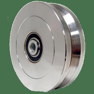 4 Inch Steel V-Wheel Front