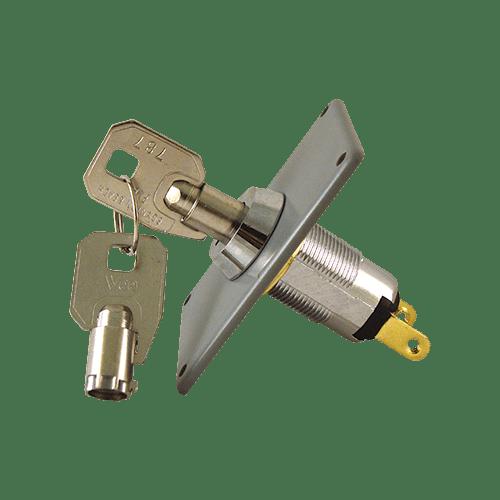 Garage Keyswitch w-Barrel Key Front