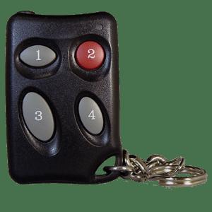 Keyscan 4 Button Keychain Remote w-HID Prox Front