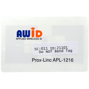 AWID Prox-Linc Windshield Sticker Tag Front